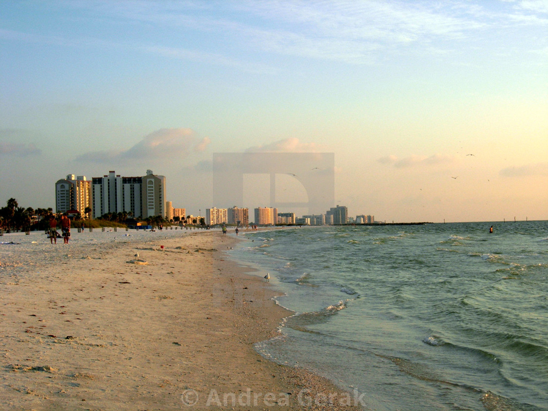 Clearwater Beach, Florida - Pastel Sunset