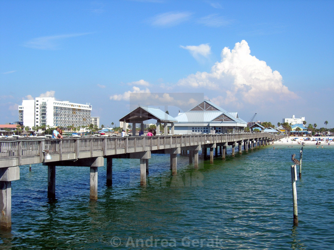 """Clearwater Beach, Pier 60"" stock image"