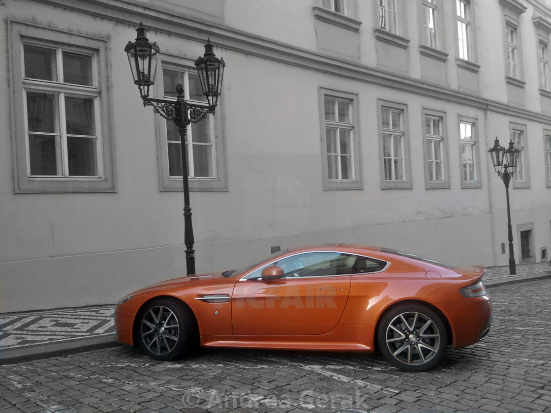 """Aston Martin in Town"" stock image"