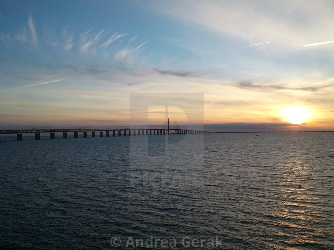 Oresund Bridge Sunset