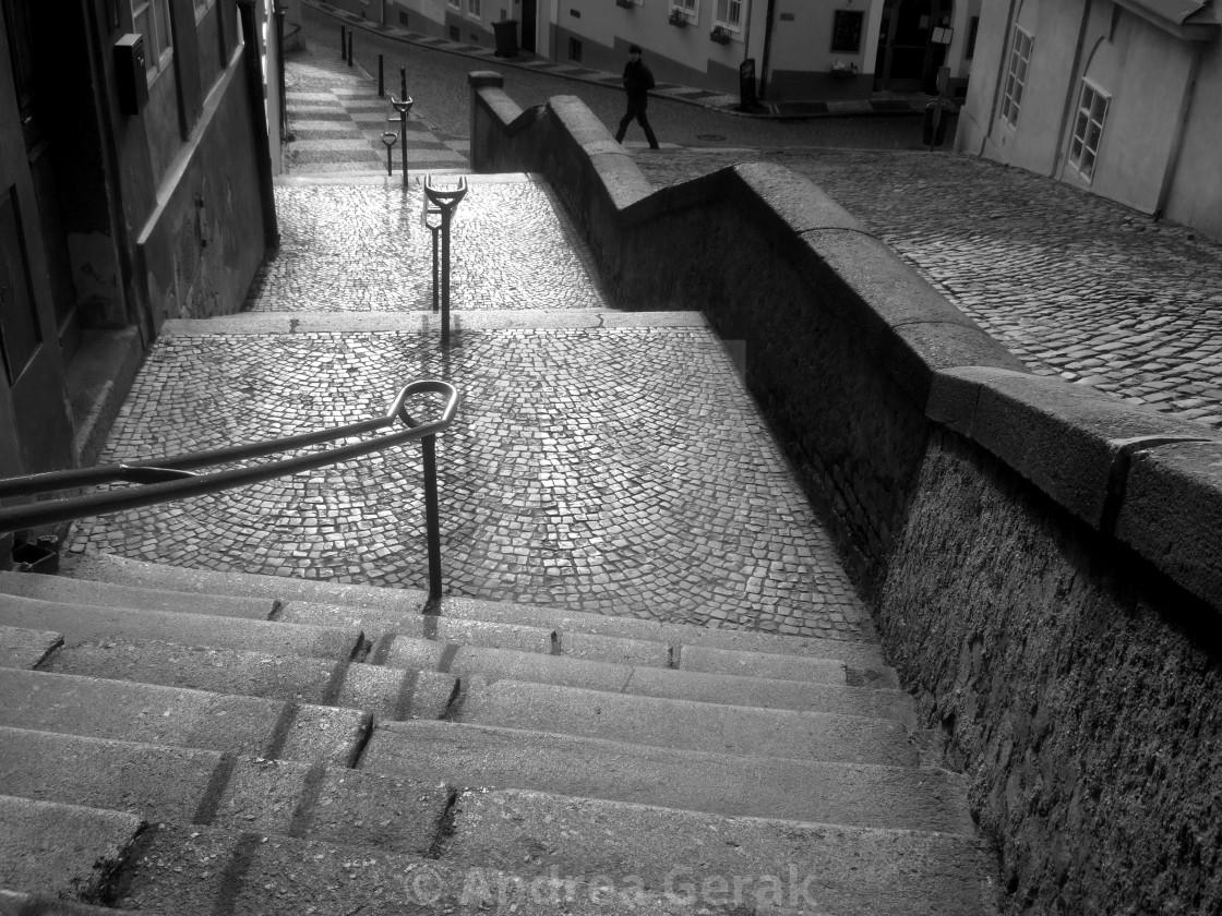 """""""Jansky stairs, Prague - 3"""" stock image"""