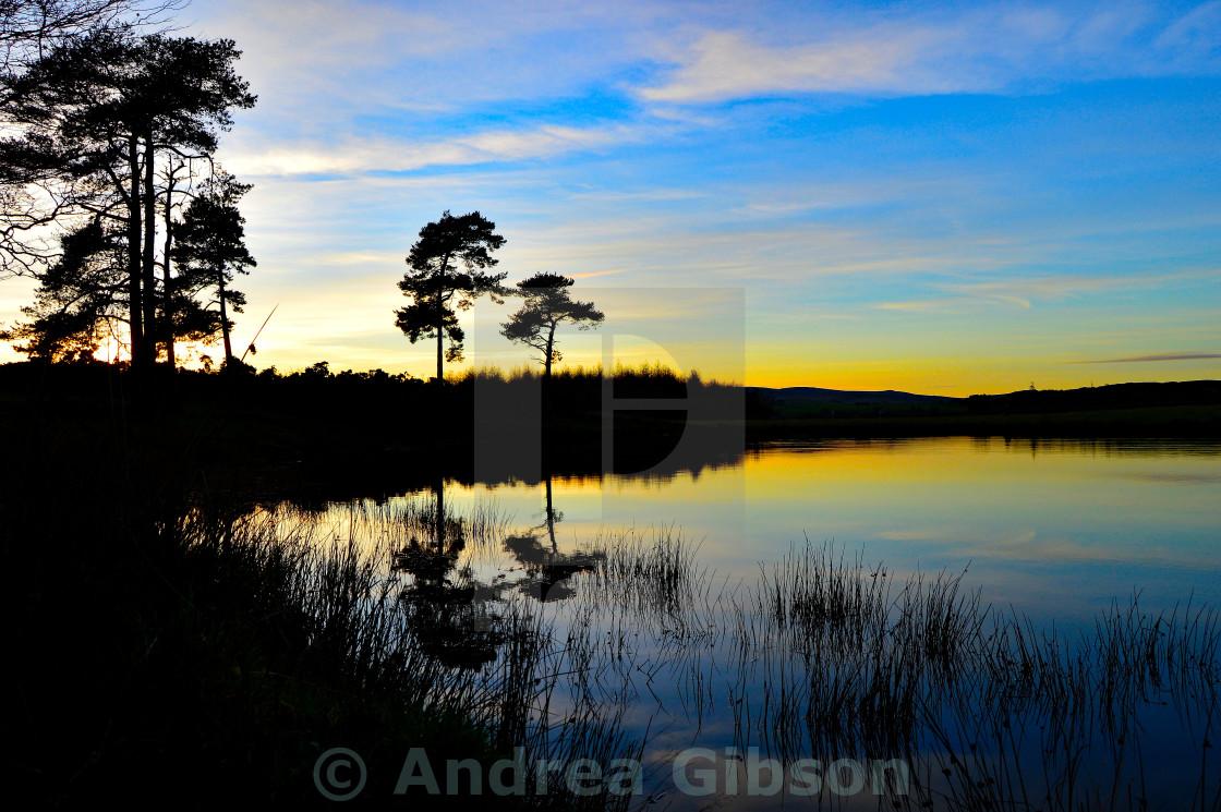 """Sunset over The Knapps"" stock image"