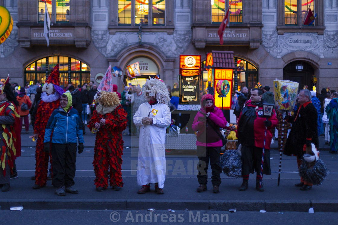 """Basel carnival 2019 morgestraich parade"" stock image"