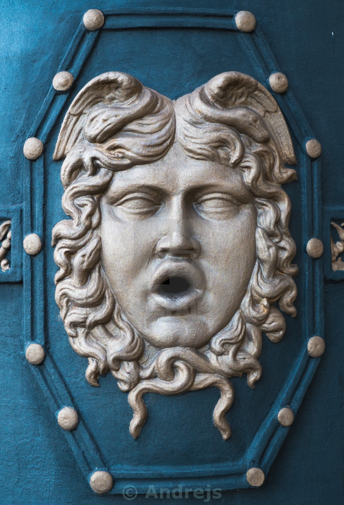 """""""Wall face mask decoration"""" stock image"""