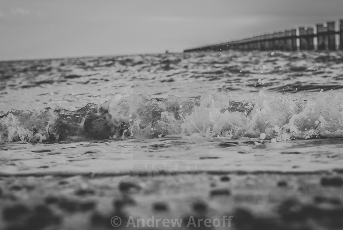 """Thames Waves"" stock image"