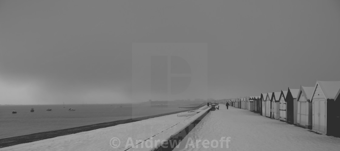 """Snowy Promenade"" stock image"