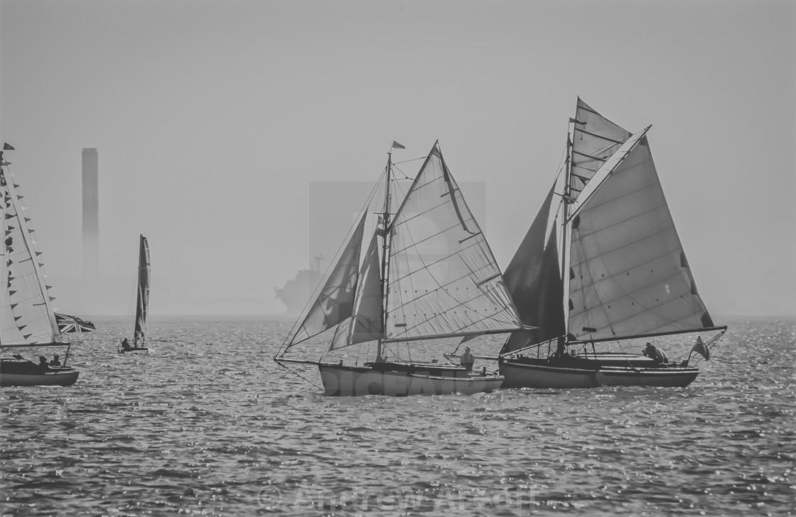 """Regatta Sailing II"" stock image"