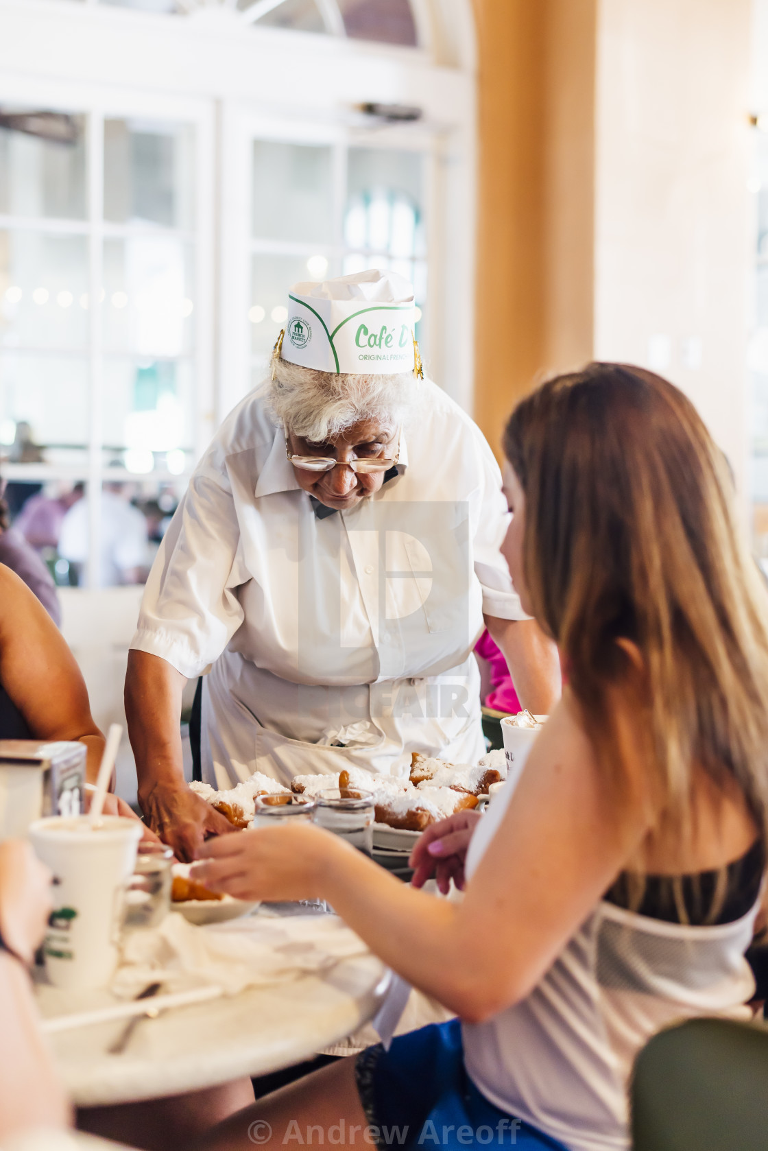 """""""Beignets in New Orleans"""" stock image"""
