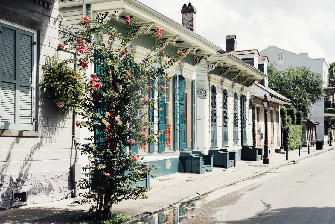 """New Orleans French Quarter buildings"" stock image"