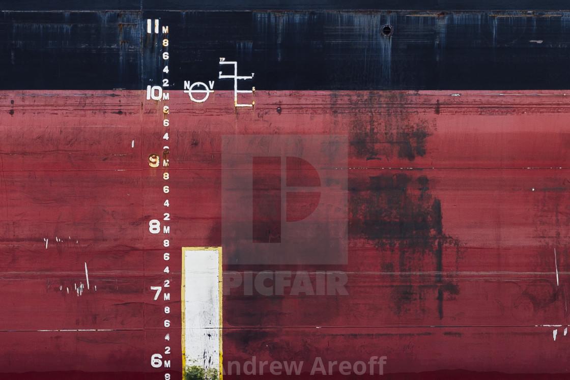 """Ship markings"" stock image"