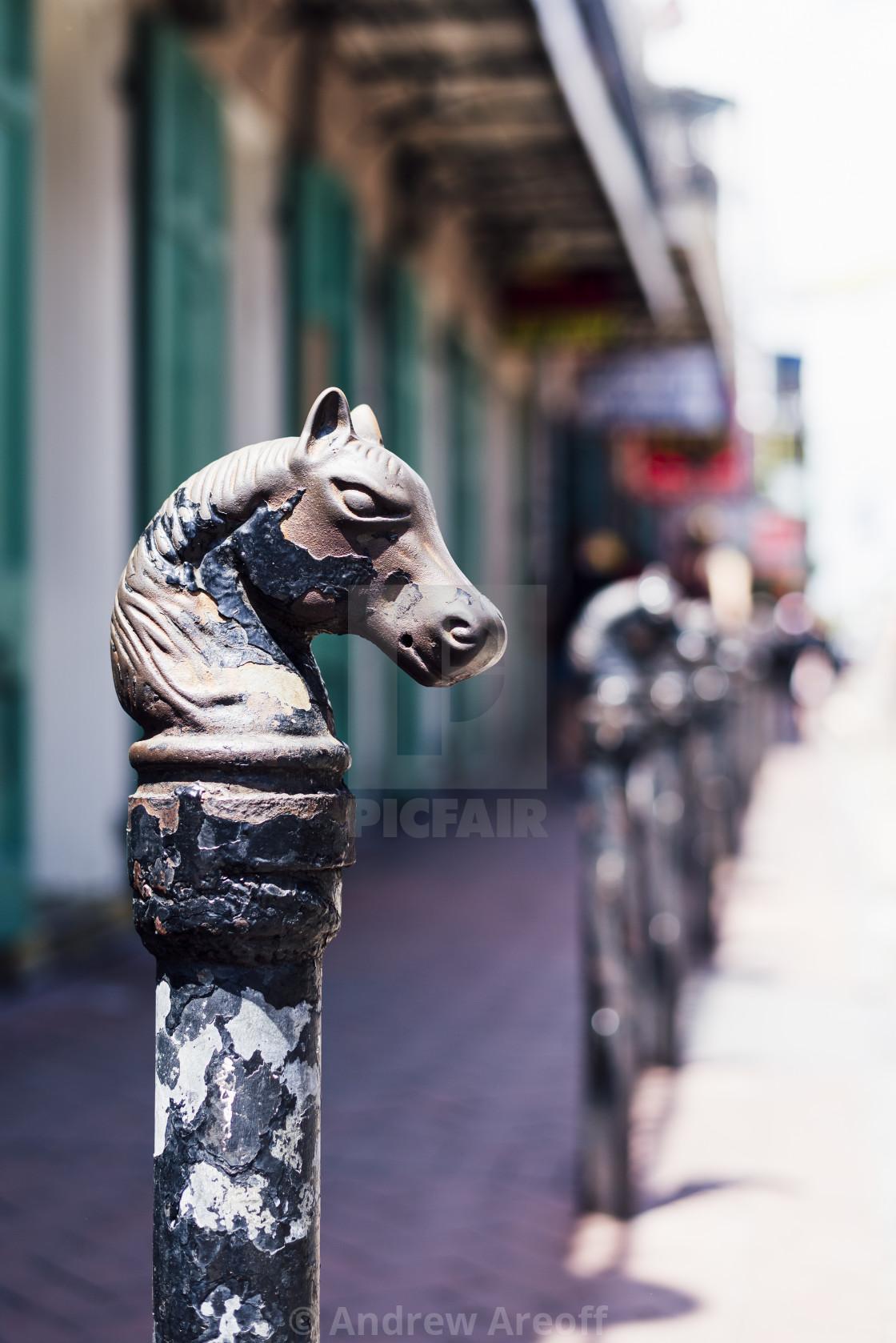 """Iconic horse post"" stock image"