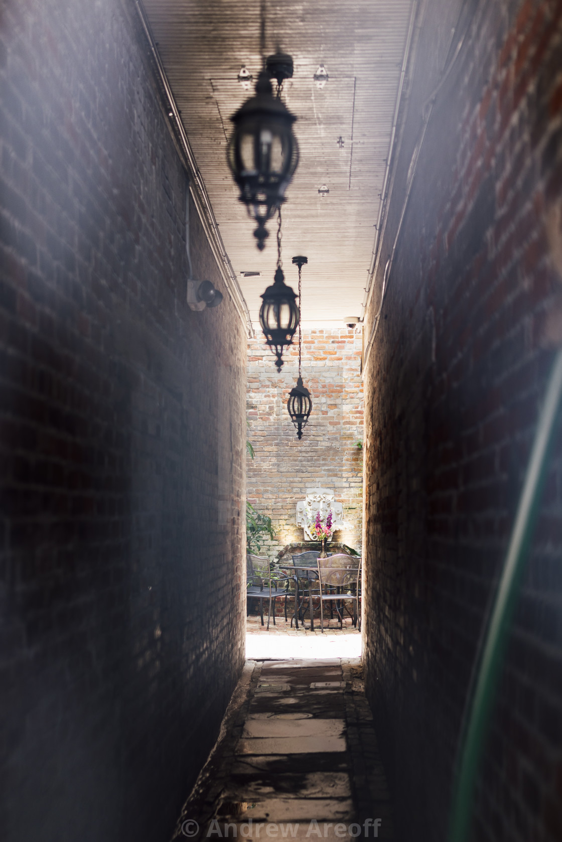 """Alleyway in New Orleans"" stock image"