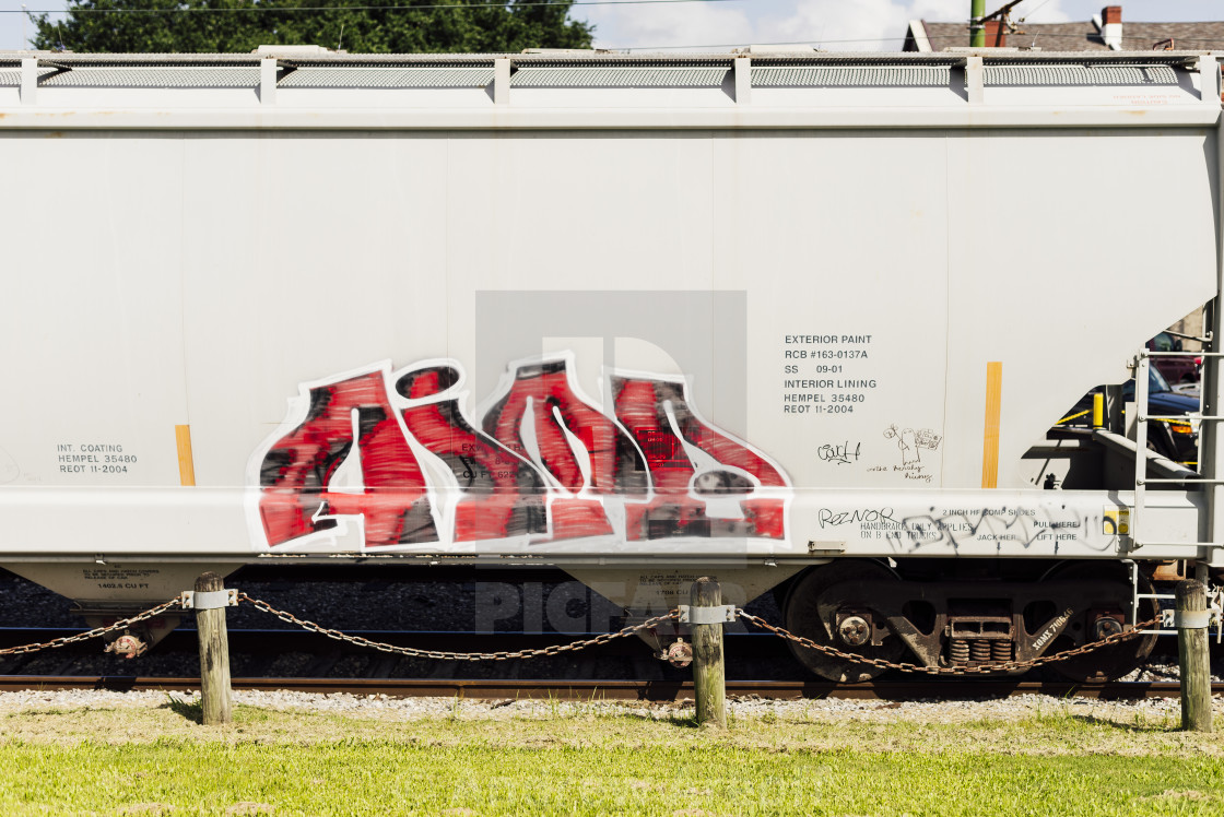 """Railway wagons in New Orleans"" stock image"