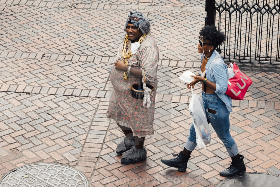 """""""People of New Orleans."""" stock image"""