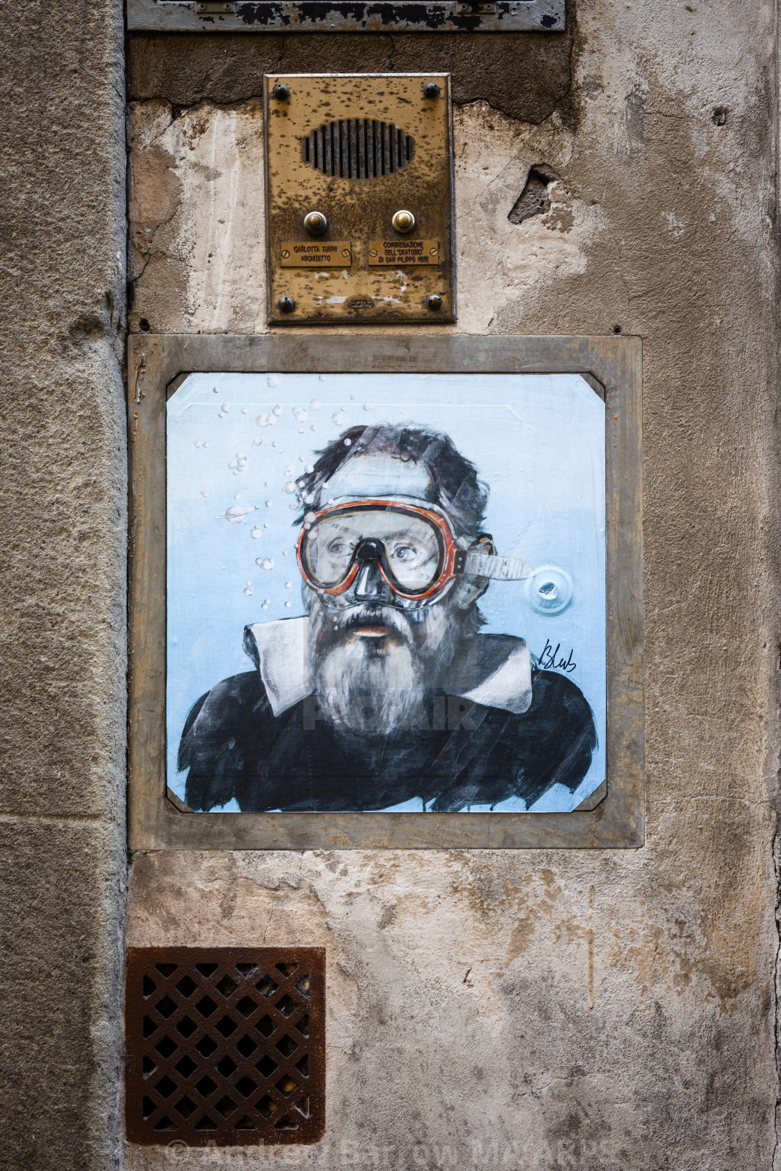 """Urban Street Art by Blub, Florence"" stock image"
