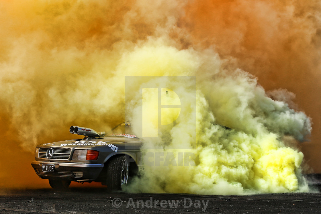 """HITLER - Aussie Pro Burnout Car"" stock image"