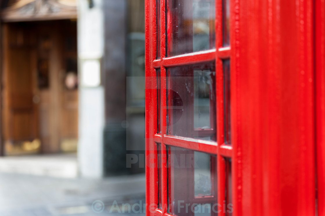 """Red Telephone Box, London"" stock image"
