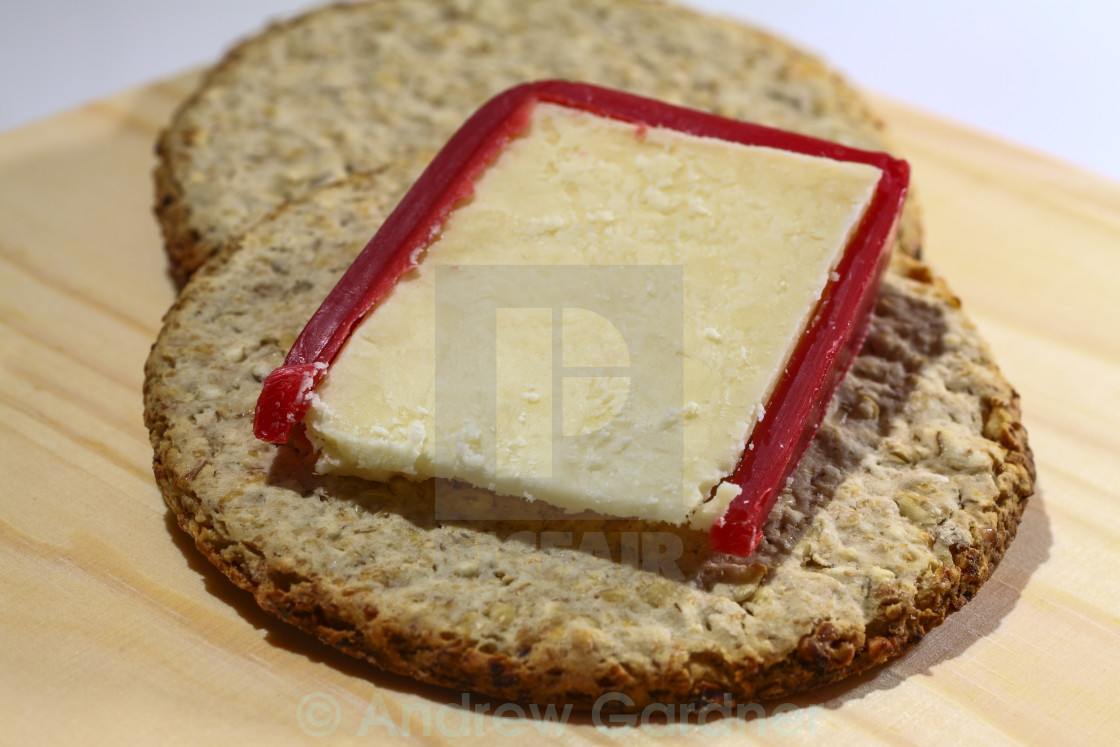 """""""Cheese and crackers"""" stock image"""