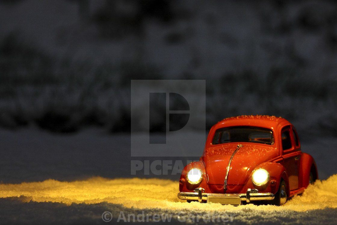 Toy Red Car With Illuminated Headlights License For 4 96 On Picfair