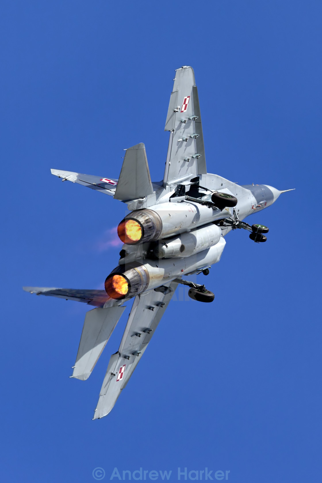 """MiG-29A Fulcrum A red 111"" stock image"