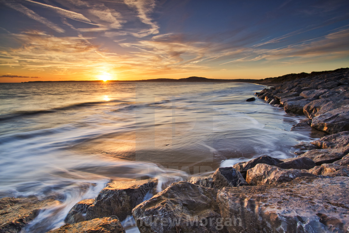 """Aberavon sunset"" stock image"