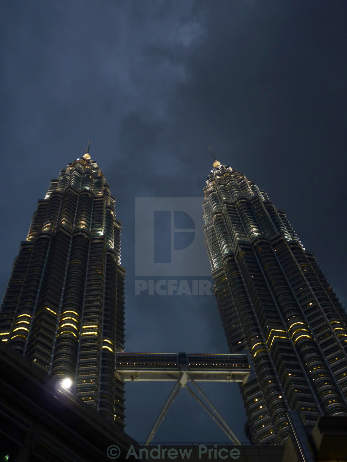 """Petronas - Towers of Light"" stock image"