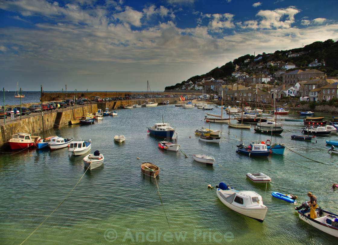 """""""Fishing Boats, Mousehole Harbour"""" stock image"""