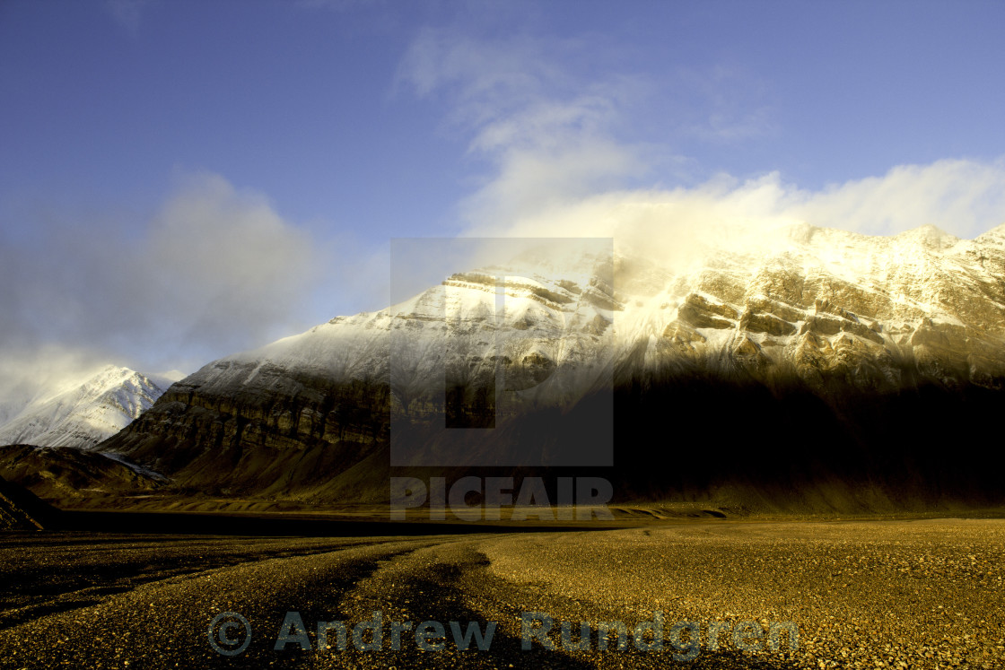 """Landscape in the Arctic"" stock image"