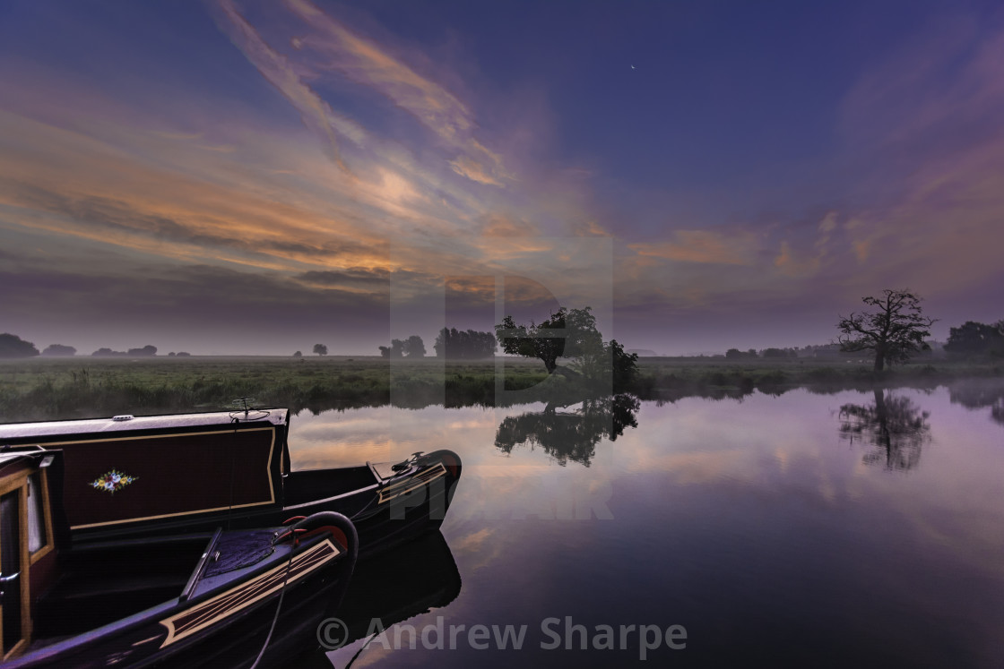 """River Great Ouse, Ely, Cambridgeshire"" stock image"