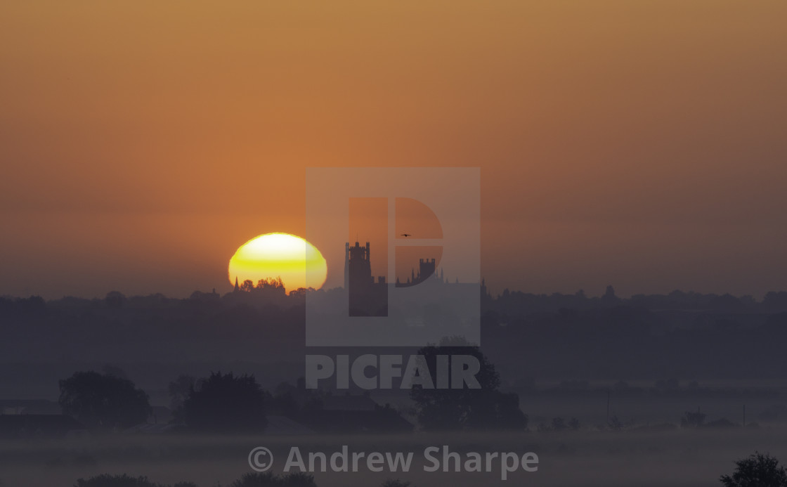 """Dawn over Ely, 16the May 2019"" stock image"
