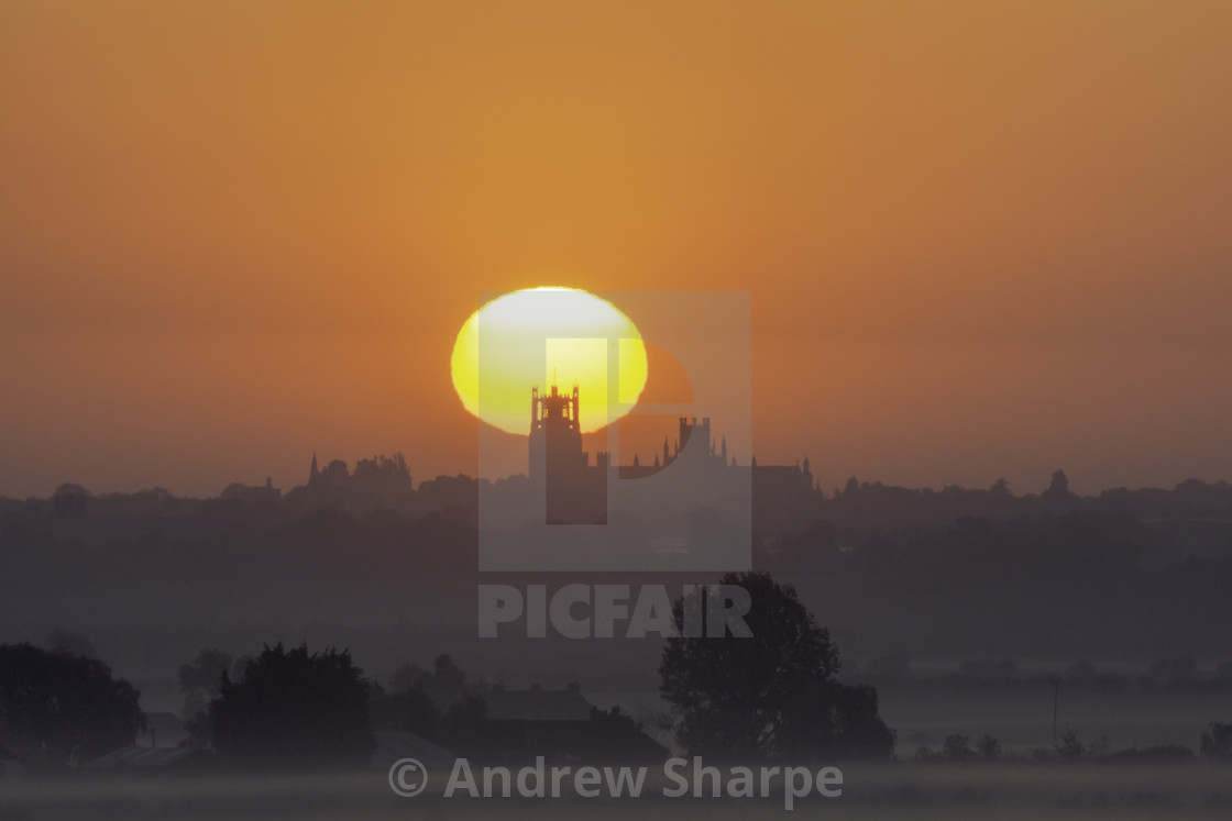 """""""Dawn over Ely, 16the May 2019"""" stock image"""