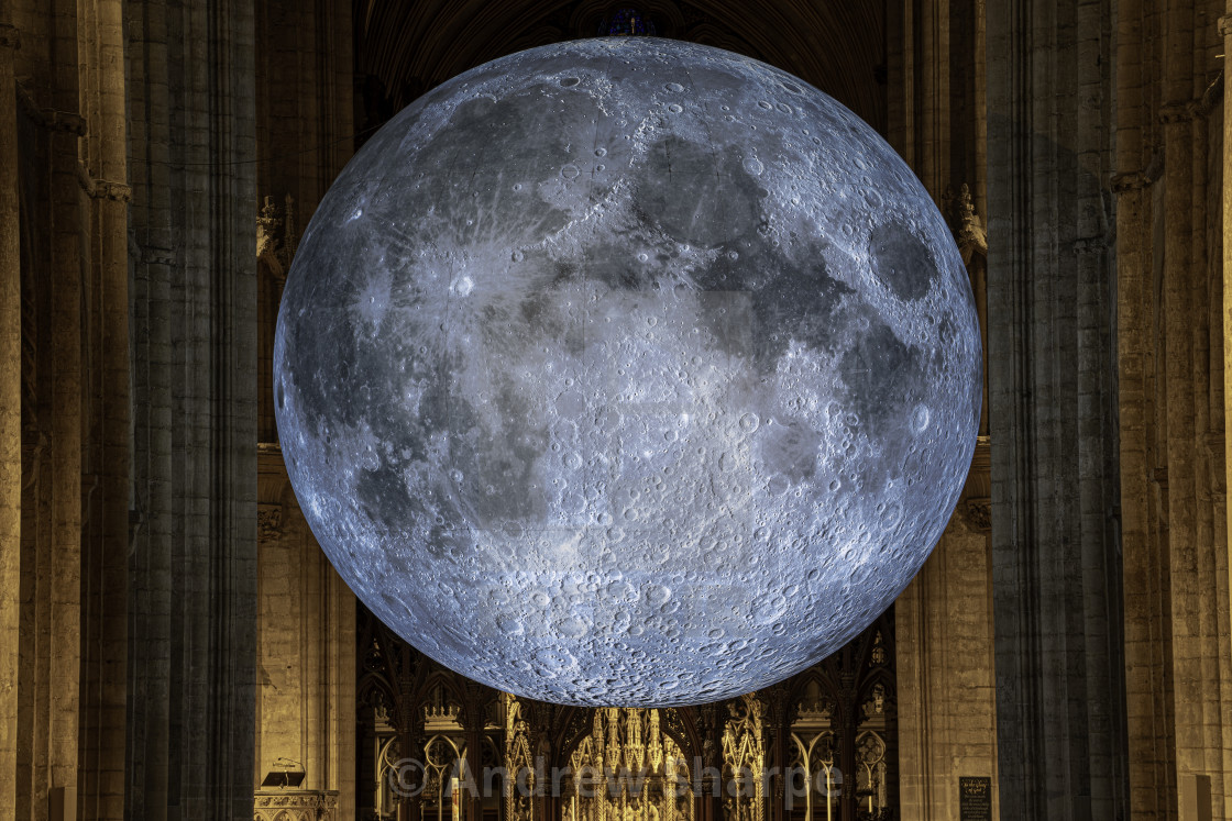 """""""Museum of the Moon in Ely Cathedral"""" stock image"""