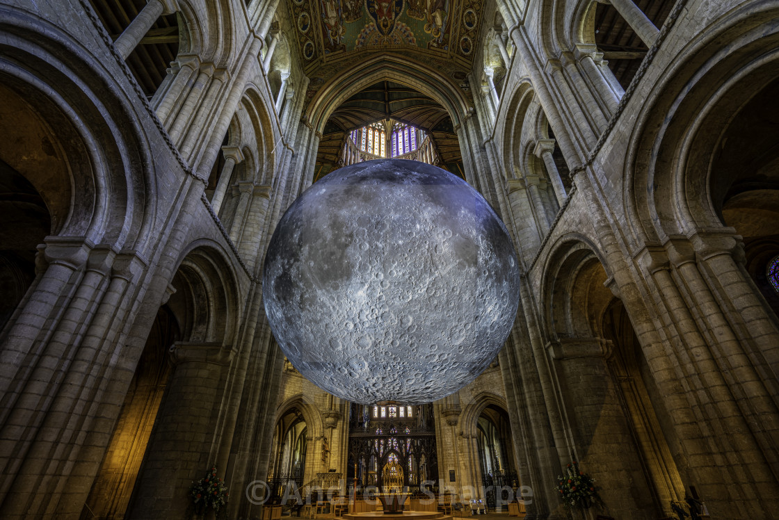 """Museum of the Moon in Ely Cathedral"" stock image"