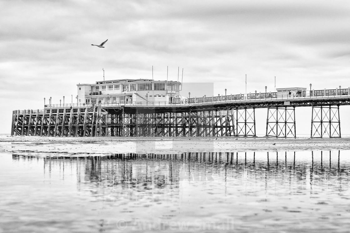 """""""Worthing Pier At Low Tide 4"""" stock image"""