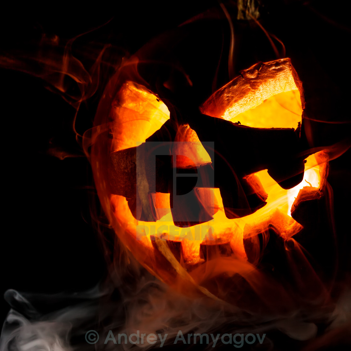 """Halloween - old jack-o-lantern"" stock image"
