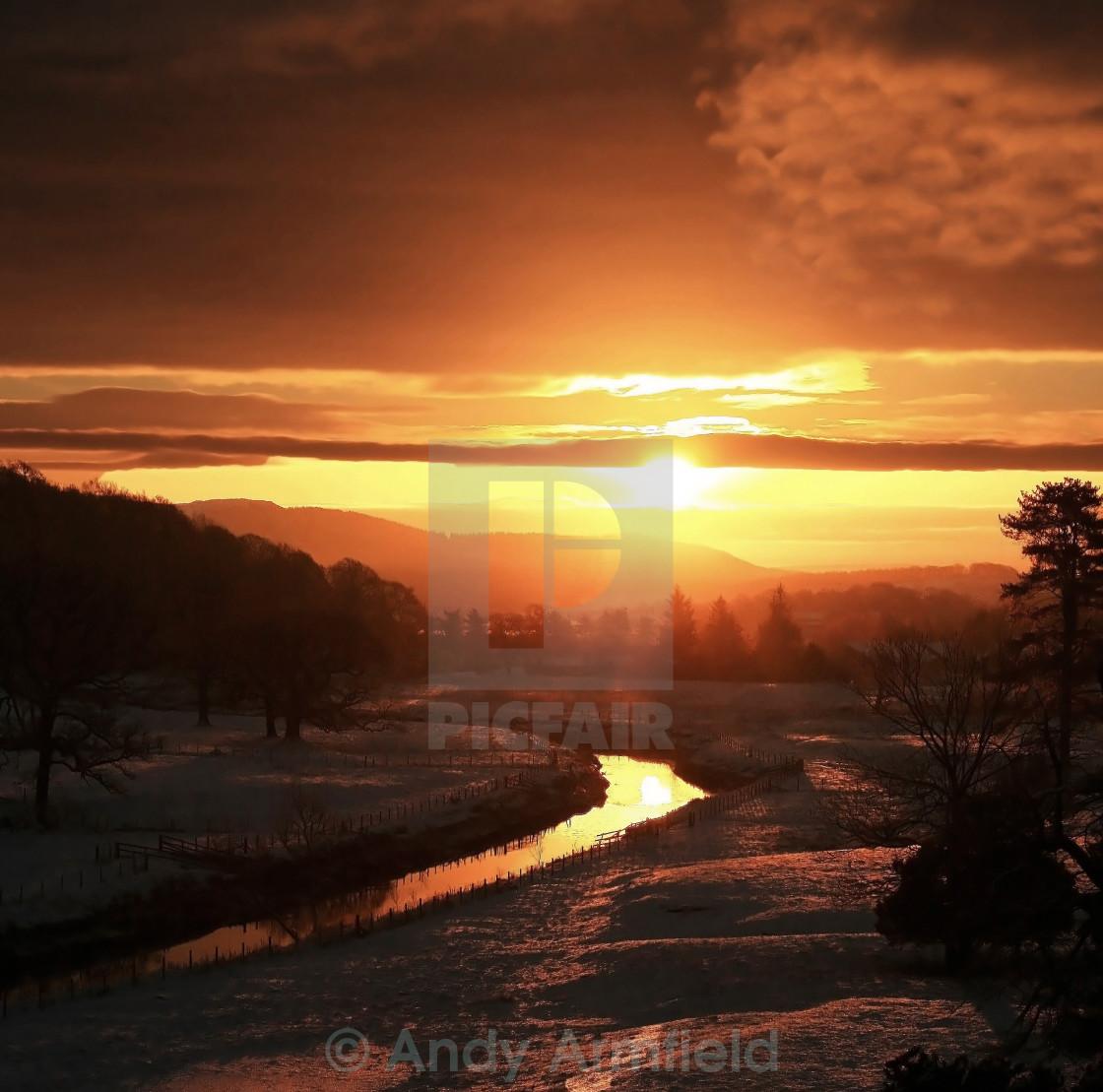 """""""Christmas Dawn"""" stock image"""