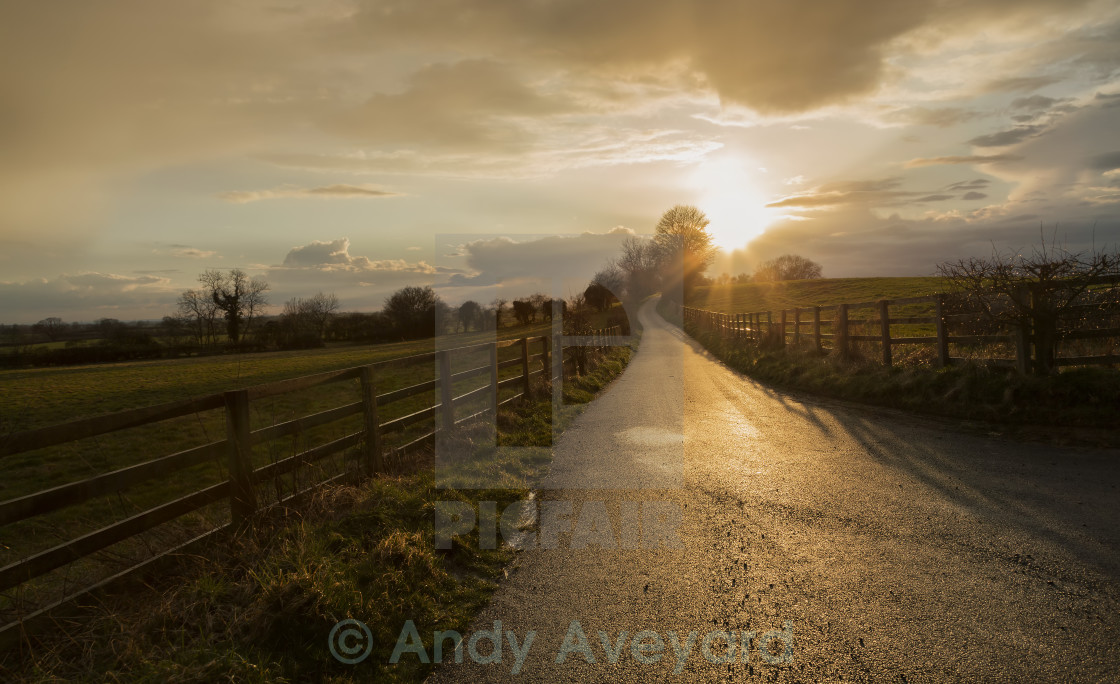 """Sunset Lane"" stock image"