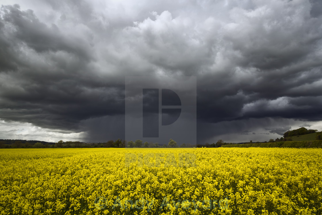 """Winged storm cloud"" stock image"
