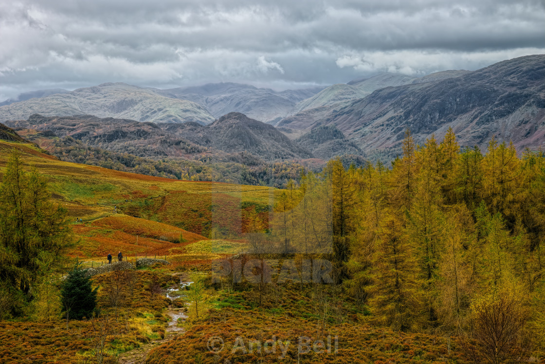 """The Borrowdale Fells"" stock image"