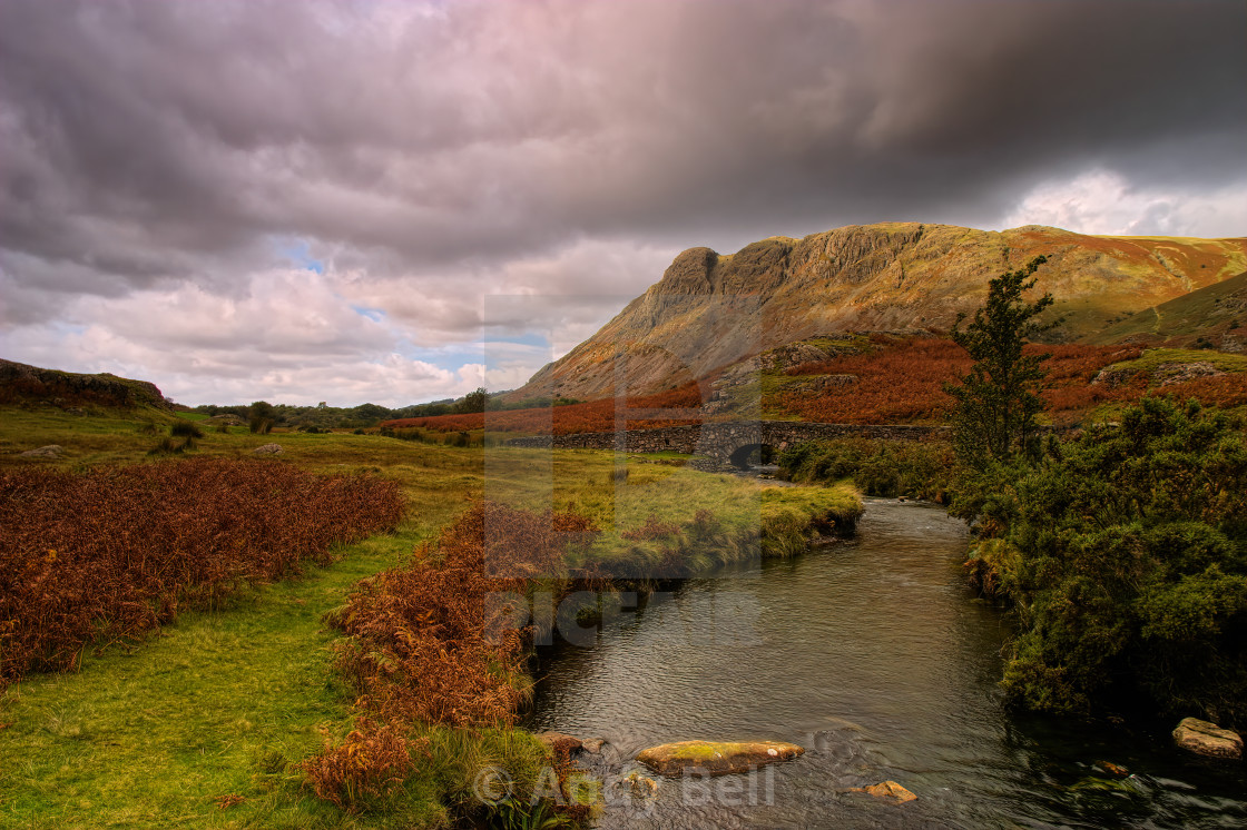 """Buckbarrow and Overbeck Bridge"" stock image"