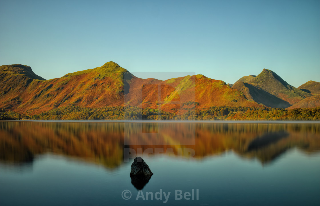 """Catbells and Derwent Water"" stock image"
