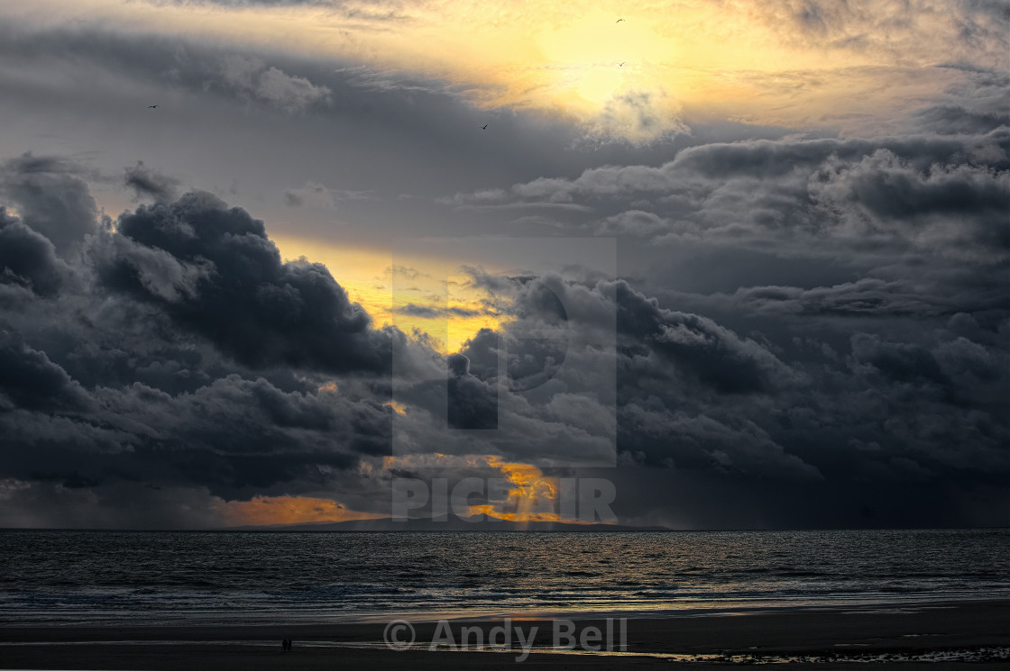 """Dramatic clouds"" stock image"