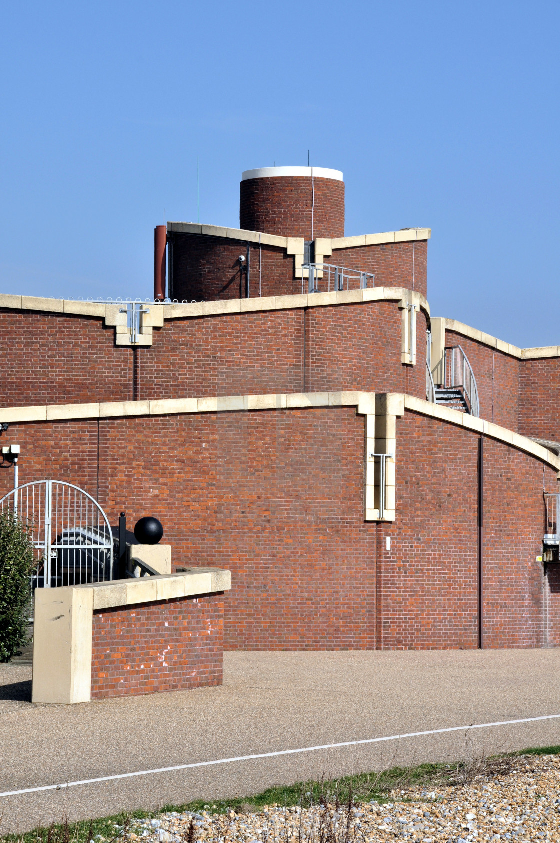 """""""Waste Water Treatment Works, Eastbourne, East Sussex"""" stock image"""