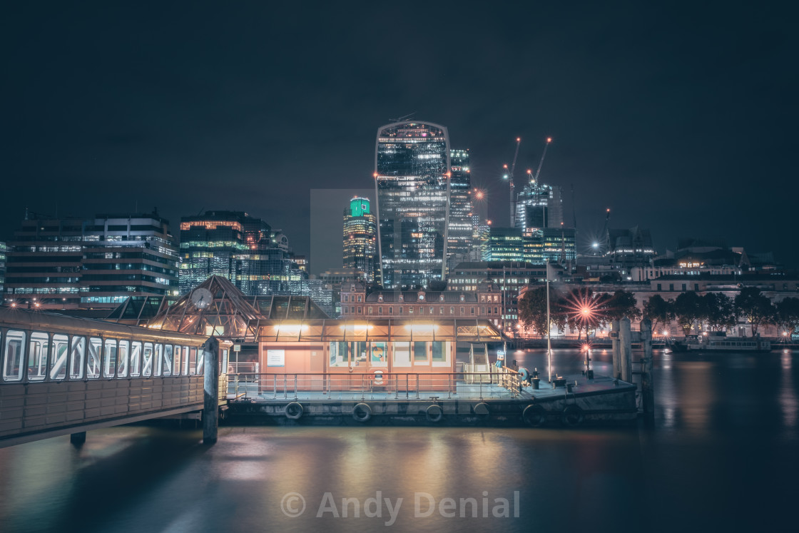 """London Bridge City Pier"" stock image"