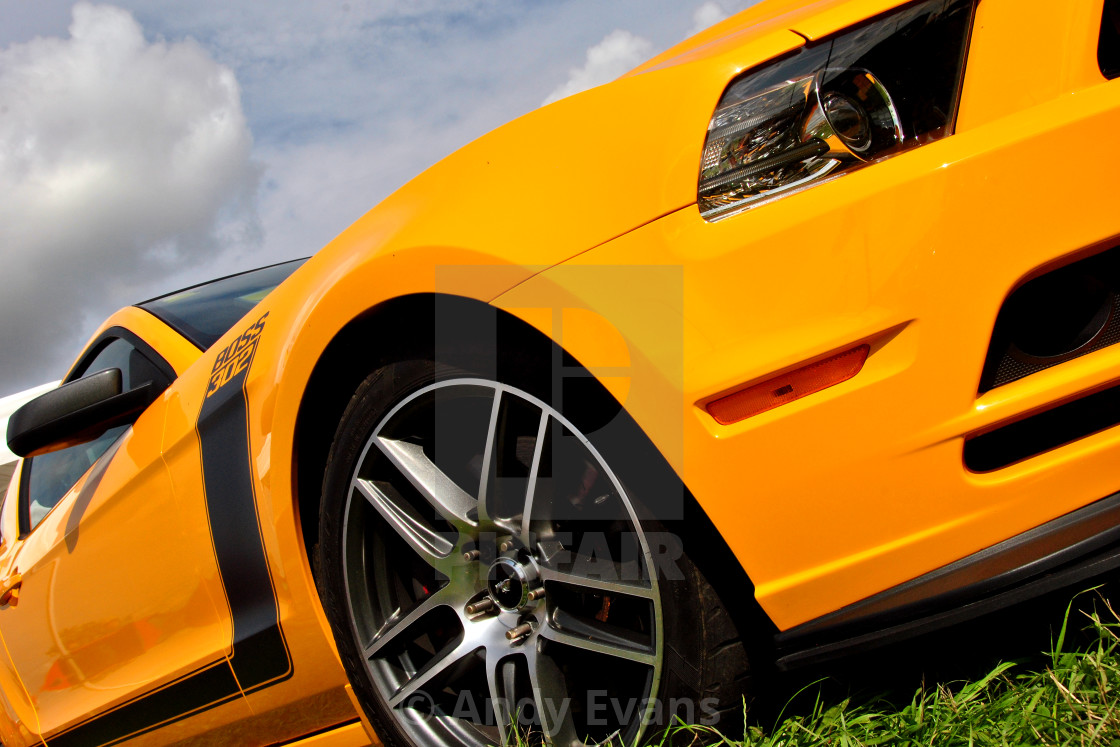 """""""Ford Mustang GT Classic American Motor Car"""" stock image"""