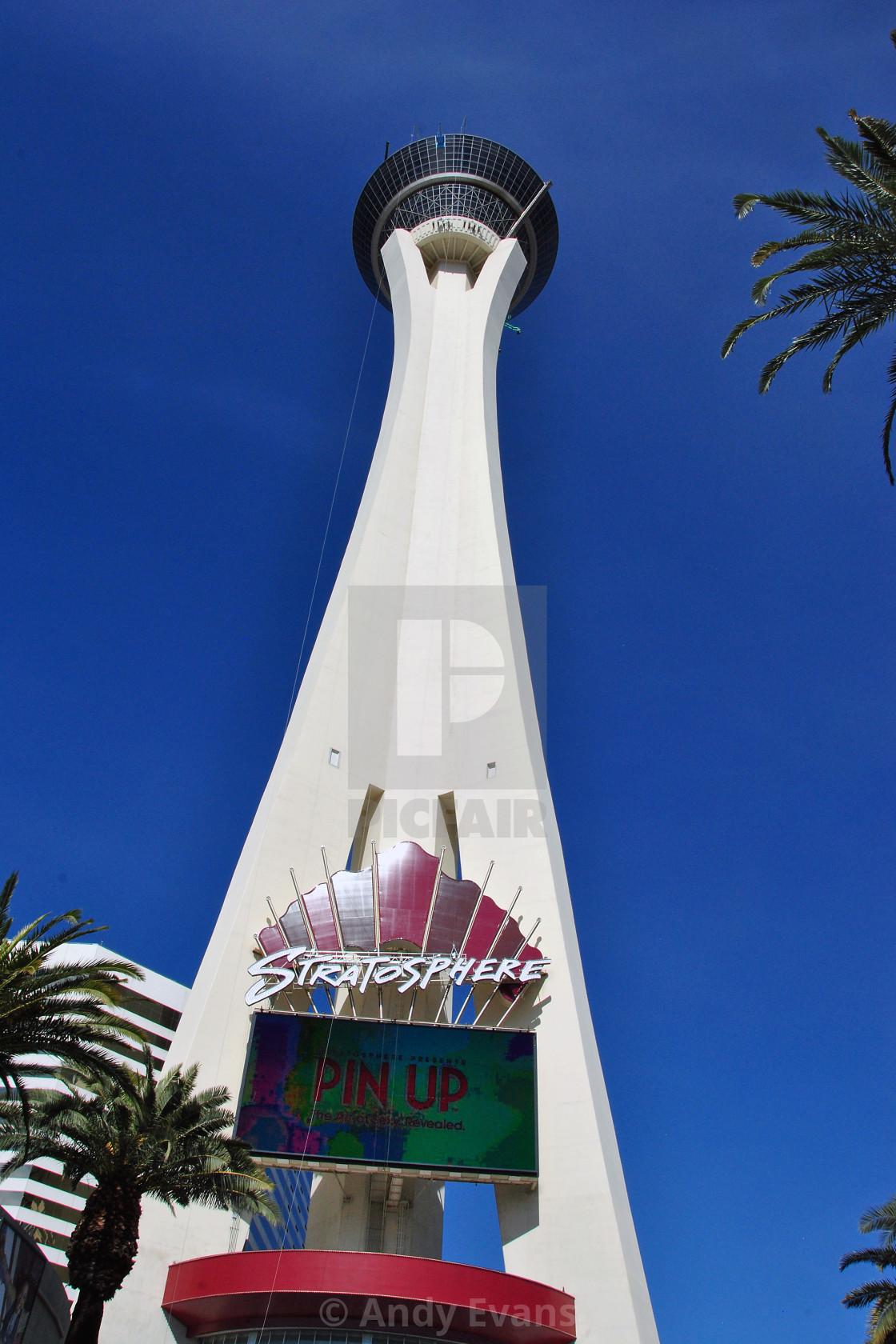 """""""Stratosphere Tower Las Vegas Nevada America"""" stock image"""