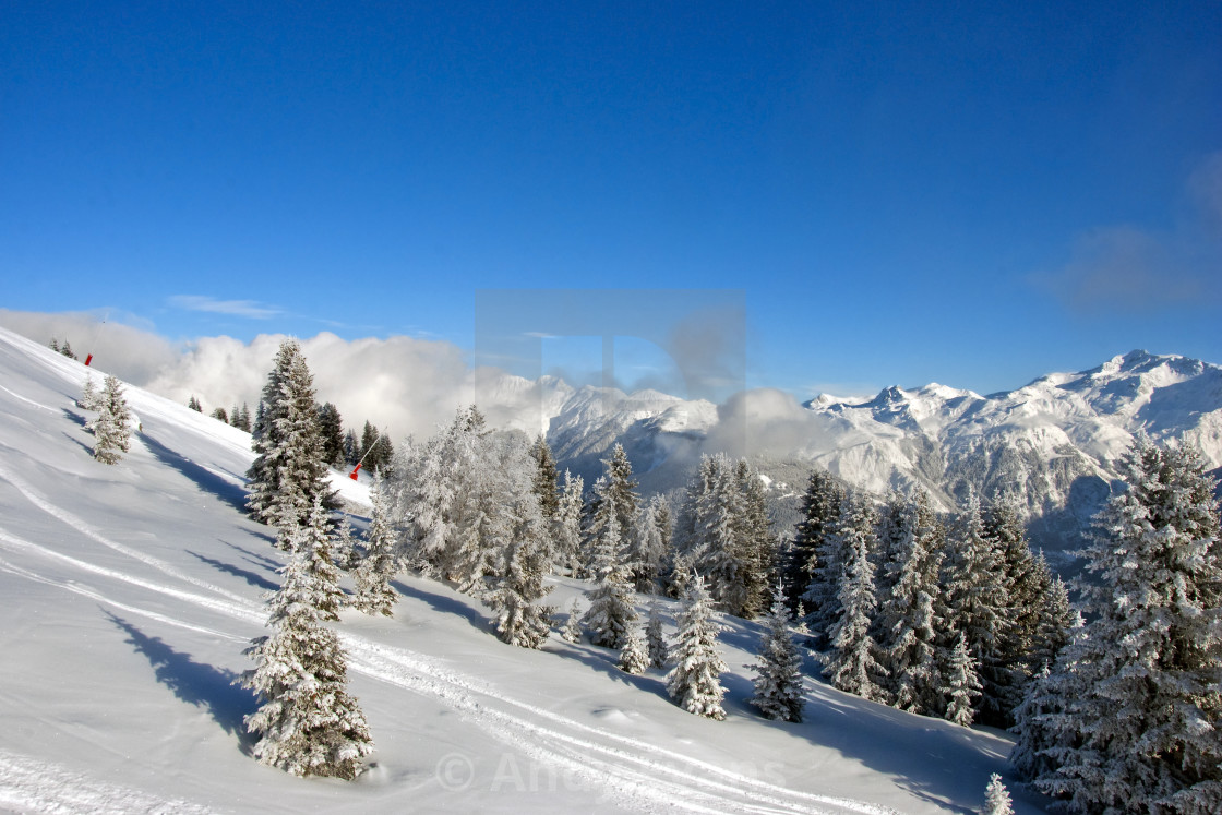 """""""Courchevel 1850 3 Valleys French Alps France"""" stock image"""