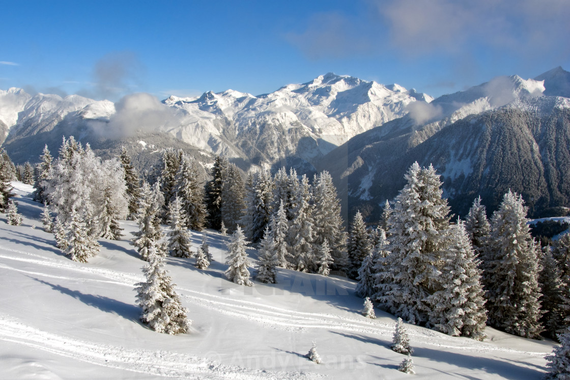 """Courchevel 1850 3 Valleys French Alps France"" stock image"