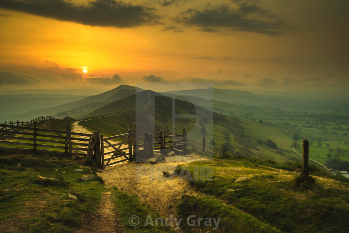 """Great Ridge Sunrise"" stock image"