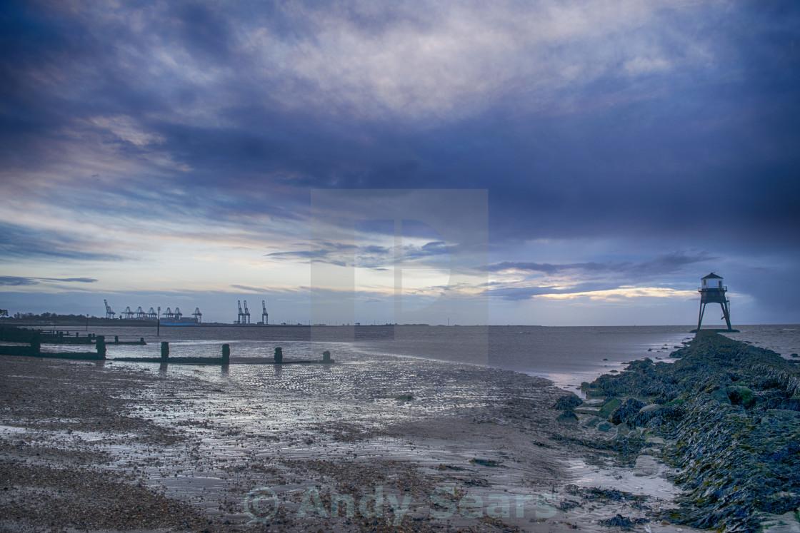 """Harwich Beach at Sunrise"" stock image"